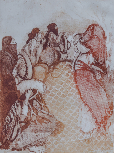 , 'Folklore Dance,' 1973, Hafez Gallery