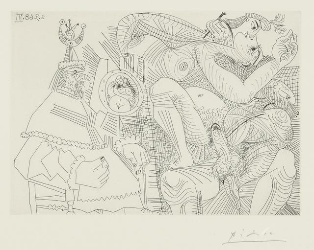 Pablo Picasso, 'Raphaël et la Fornarina. XII: Le Pape est bouche bée dans son fauteuil (B. 1787; Ba. 1804)', 1968, Sotheby's