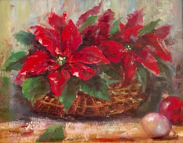 , 'Red Poinsettia Basket,' , Cosmopolitan Fine Arts