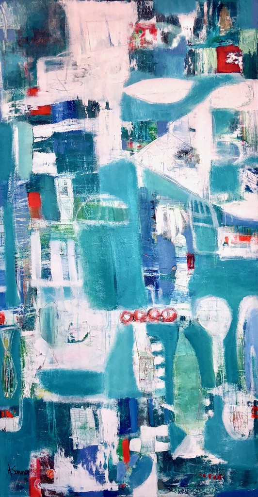 ASTRID SOMMER artist- PLEAMAR-2018-Acrylic on canvas 170 x 90 cm