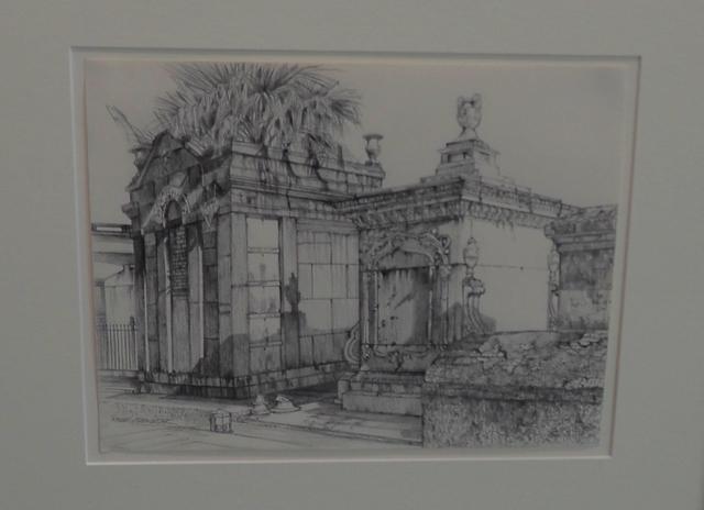 , 'Tombs (study),' 2015, LeMieux Galleries