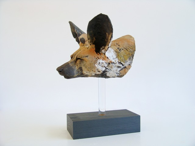 , 'Painted Dog Head Study,' 2016, Castlegate House Gallery