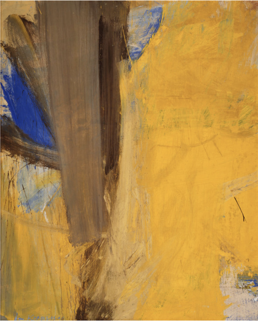 Willem De Kooning, Montauk Highway, 1958, Oil and combined media on heavy paper mounted to canvas, 59 x 48 in. Los Angeles County Museum of Art