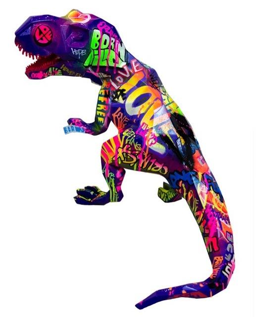 Richard Orlinski, 'Street Art T-Rex', 2017, Sculpture, Resin, ArtLife Gallery