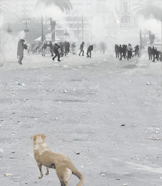 , 'protest: athen 2014,' 2017, Artdepot