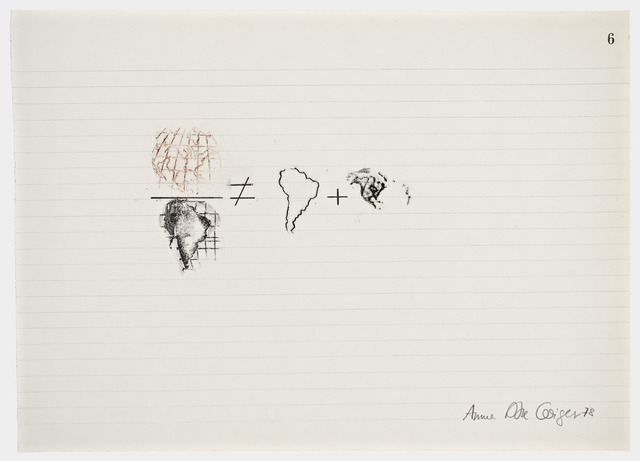 Anna Bella Geiger, 'Equations No 6', 1978, Henrique Faria Fine Art