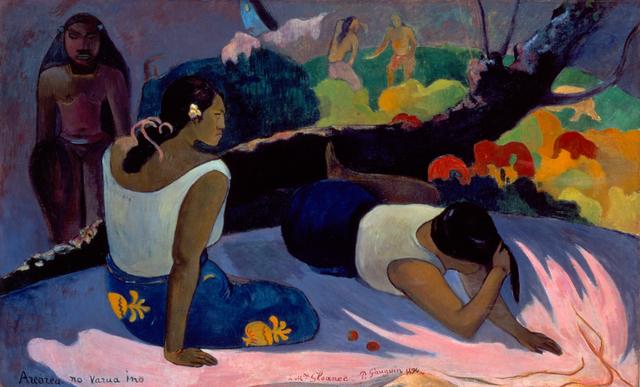 , 'Reclining Tahitian Women,' 1894, de Young Museum