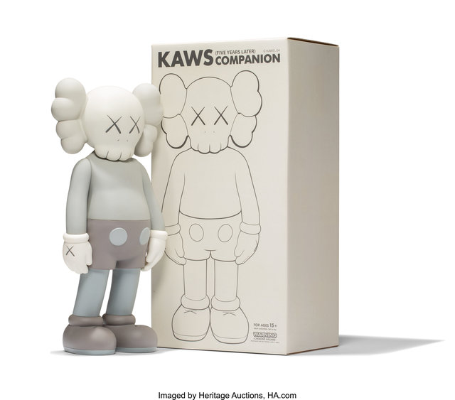 KAWS, 'Five Years Later Companion (Grey)', 2004, Heritage Auctions