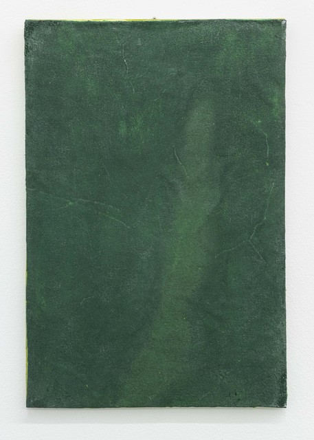 Ria Bosman, 'GRASGROEN', 2020, Painting, Acrylic on leather, Tatjana Pieters