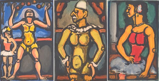 Georges Rouault, 'Le Jongleur, Triste Os, and Douce Amère from Cirque de l'Étoile Filante', 1934, Rago