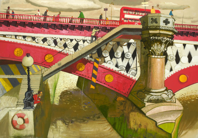 , 'Watching the River, Blackfriars Bridge,' 2013, John Martin Gallery