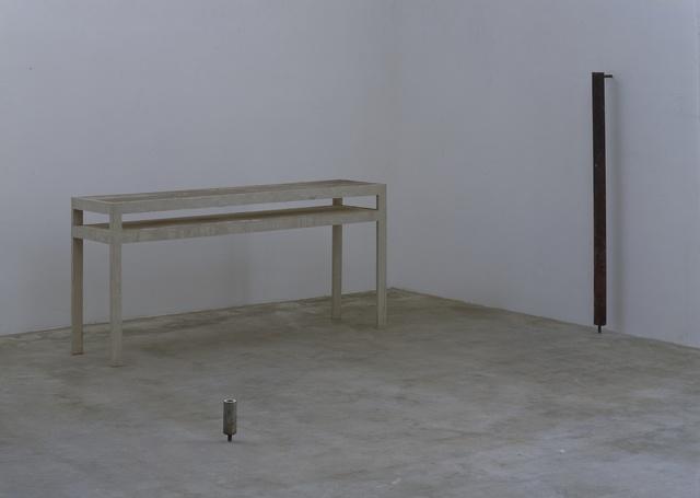 , 'ø 7,5 x 159 x 16,5 - 195 x 47 x 90 ;  ø 6 x 18,' 1991, Galerie Isabella Czarnowska