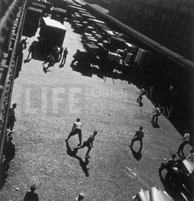 Andreas Feininger, 'Playing Ball Outside Hudson River Pier Sheds,New York', 1949, Contessa Gallery