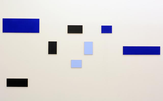 , 'Symmetrische en Asymmetrische Dag en Nacht reeks (blauw),' 1990, Tatjana Pieters