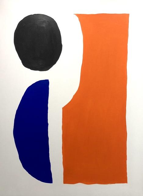 , 'Shapes in orange, black & blue,' 2018, Absolut Art Gallery