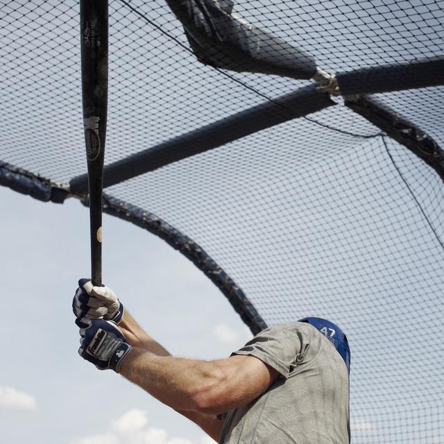 , 'Batting Practice (Shelley Duncan), Durham, NC,' 2013, Rick Wester Fine Art