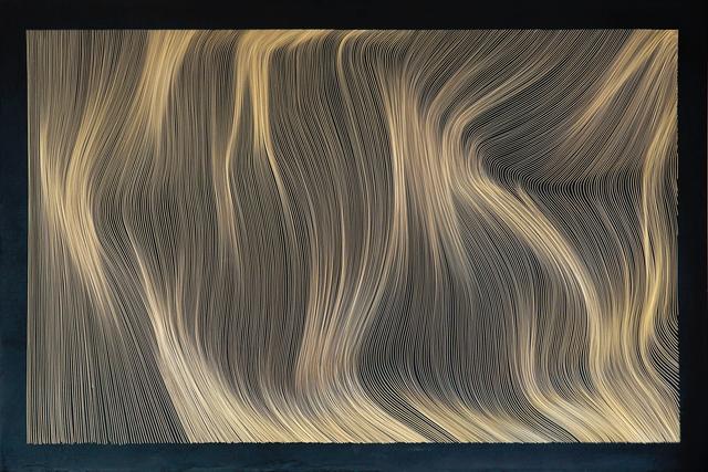 John Franzen, 'Each Line One Breath - Black Brass', 2017, PARKVIEW ART Hong Kong