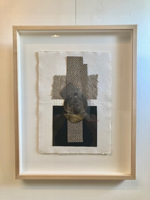 Maliza Kiasuwa, 'Incomplete 1', 2021, Drawing, Collage or other Work on Paper, Collage, photographs, thread and Washi paper, Morton Fine Art