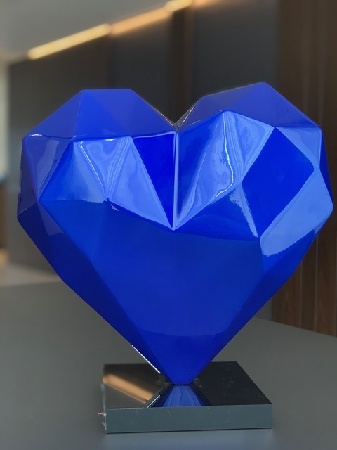 Richard Orlinski, 'The Heart Blue Mick', 2019, PANOVA Gallery