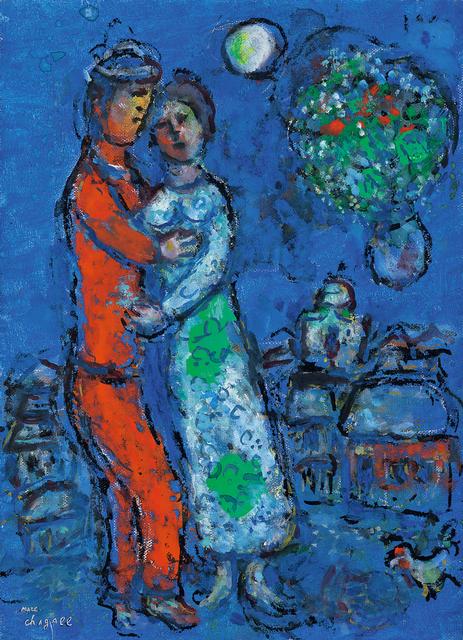 Marc Chagall, 'Le Couple dans la Nuit', 1978-1980, Seoul Auction