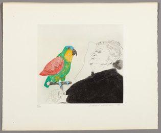Félicité Sleeping, with parrot