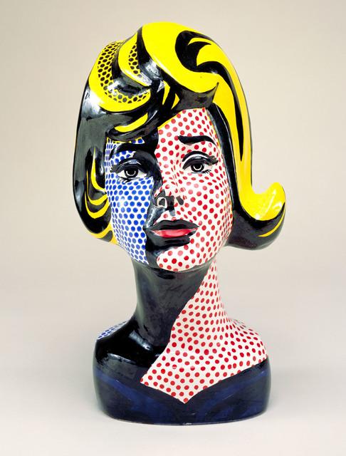 Roy Lichtenstein, 'Head with Blue Shadow', 1965, Sculpture, Painted ceramic, Nasher Sculpture Center