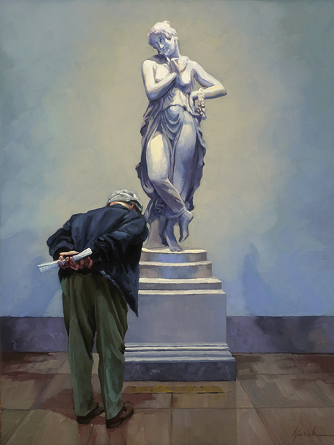 Karin Jurick, 'On Her Pedestal', 2019, Painting, Oil on Panel, Shain Gallery