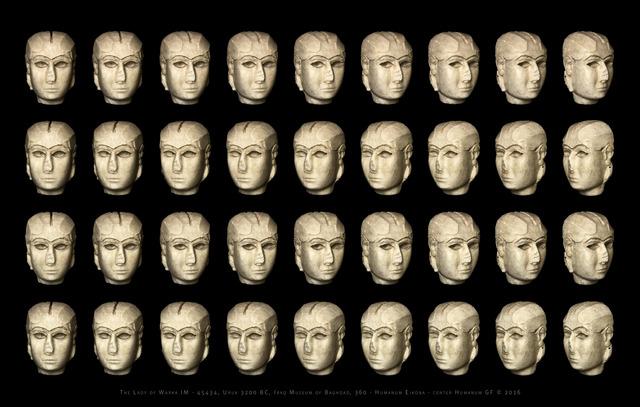 Giorgia Fiorio, 'Lady of Warka IM 45434, Eikona Central, Original Edition, scale 1 : 2 ', 2015-2016, Photography, Carbon Print on 100% Cotton Fibre, Galleria del Cembalo