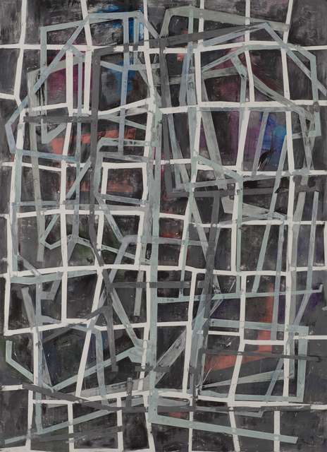 , 'Grinder Painting 11 (White Lines 2),' 2017, Z Gallery Arts