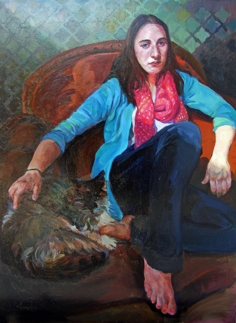 , 'Young Woman with Cat,' 2016, Bowersock Gallery
