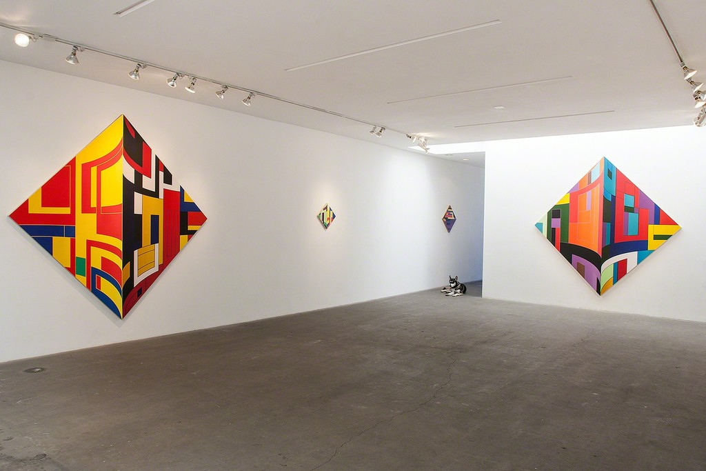 "Thomas Burke 2015 Exhibition Installation: ""Dutch Jailbreak- New Paintings"" at Western Project"