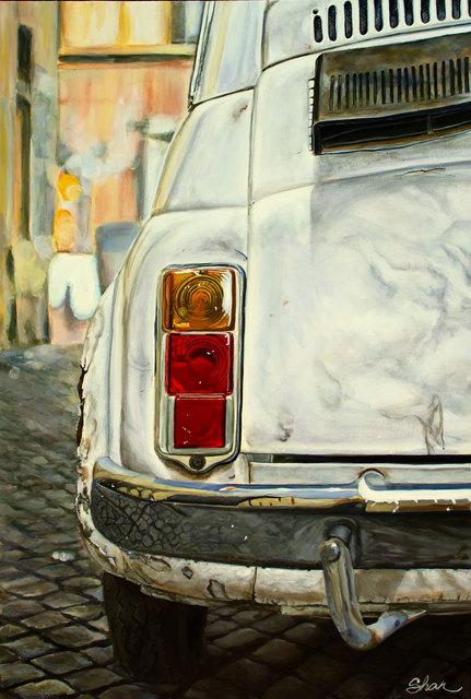 , 'White Fiat Cinguecento,' 2018, Zhou B Haus der Kunst