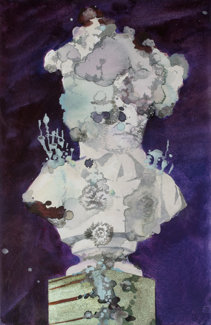 Kati Immonen, 'Monument: Cup lichen', 2020, Drawing, Collage or other Work on Paper, Watercolor and gouache on paper, framed, museum glass, Helsinki Contemporary