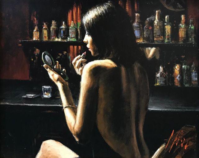 Fabian Perez, 'ANNA AT THE BAR', 2009, Print, ENHANCED GICLEE ON CANVAS, Gallery Art