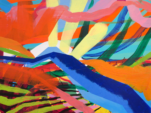 Krista Dedrick Lai, 'Napscape 1', 2017, Painting, Acrylic on panel, framed, InLiquid