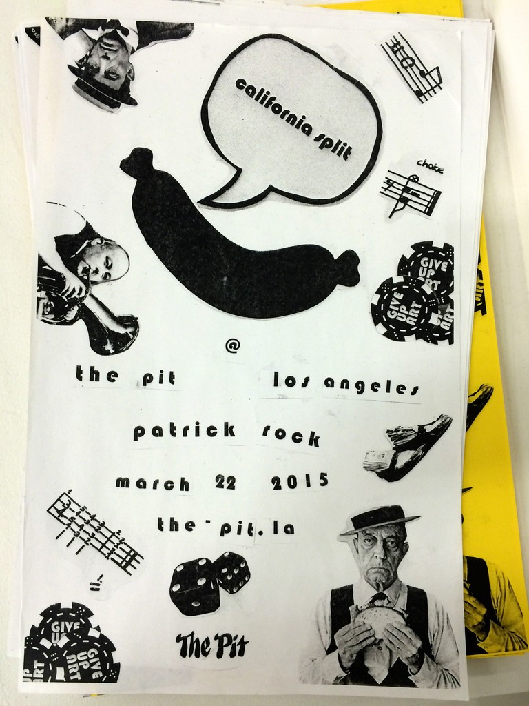 Poster made by Patrick Rock to accompany California Split.
