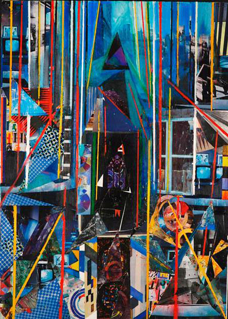 , 'Blue Cityscape Window,' 2008, Fountain House Gallery