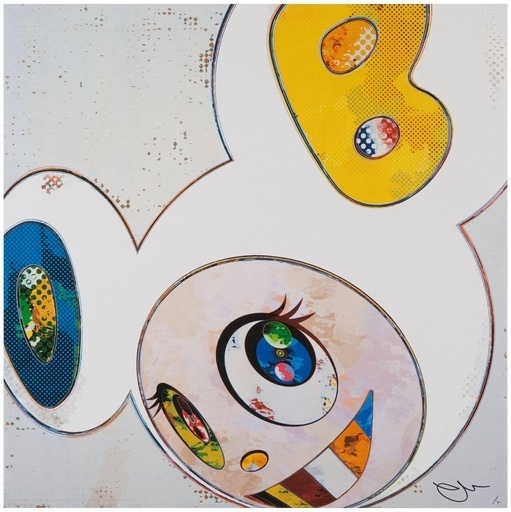Takashi Murakami, 'And Then x 6 (White: The Superflat Method, Blue and Yellow Ears)', 2013, Dope! Gallery