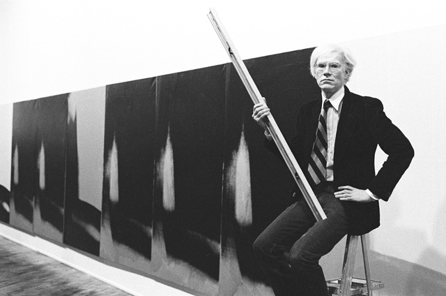 , 'Andy Warhol in front of Shadows at Heiner Friedrich Gallery, New York,' 1979, Musée d'Art Moderne de la Ville de Paris