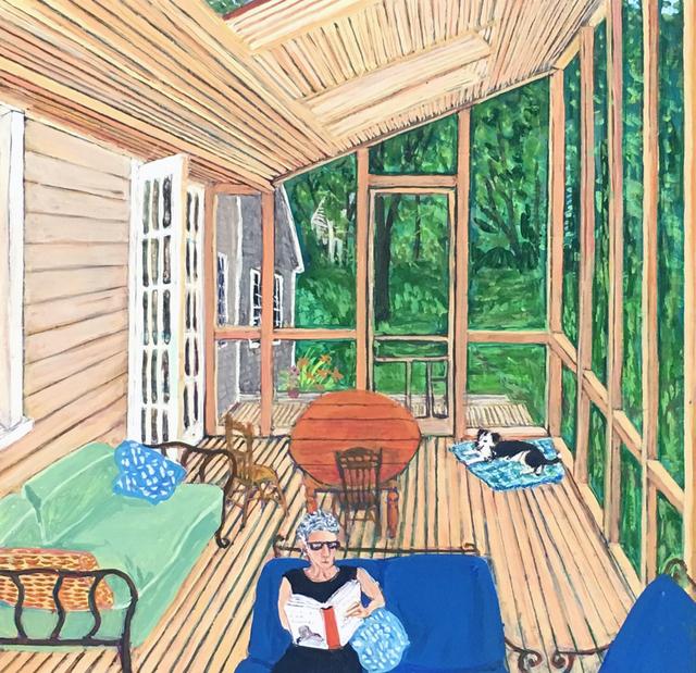 Sarah McEneaney, 'Reading Listening', 2015, Tibor de Nagy