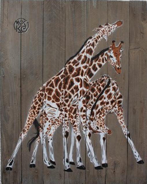 Mosko, '3 girafes', 2018, Galry