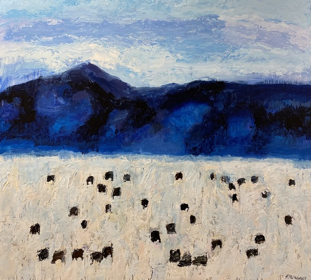 Theodore Waddell, 'Dell Angus #6', 2021, Painting, Oil, encaustic on canvas, Visions West Contemporary