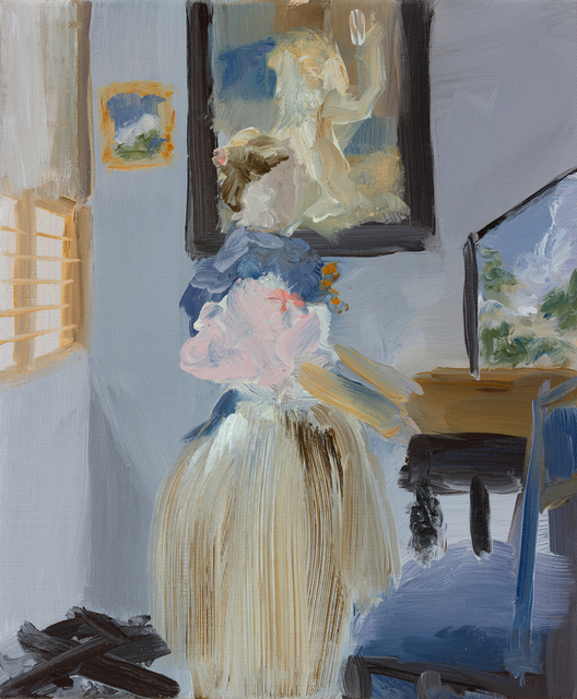 , 'Small Oil Study for After Vermeer,' 2015, Cynthia Corbett Gallery