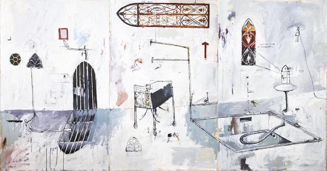 , 'A Exibição de Giotto / Gotejamento Contínuo / A Vocalização da Mãe da Lua,' 2014, Athena Contemporânea