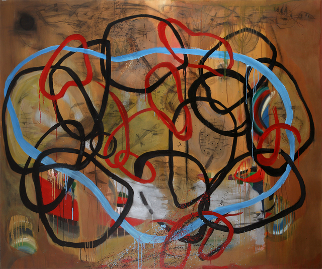Danny Simmons, 'Reaching to connect', 2012, Tabla Rasa Gallery