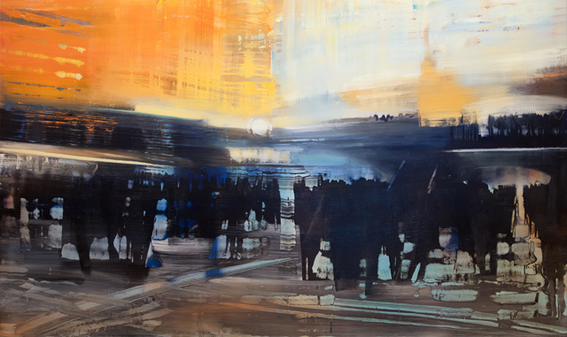 David Allen Dunlop, 'City Life in the Station', 2017, Lily Pad West