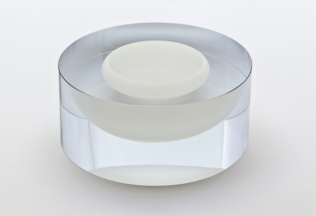, 'Clear Cylinder with floating sand-colored bowl,' 2014, Galerie Maria Wettergren