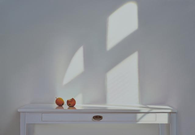 , 'Tisch mit Äpfeln und Schatten,' 2016, Galerie Friedmann-Hahn