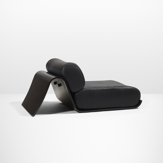Tendo Brasileira, 'Low Easy chair', 1978, Design/Decorative Art, Leather, lacquered plywood, Rago/Wright