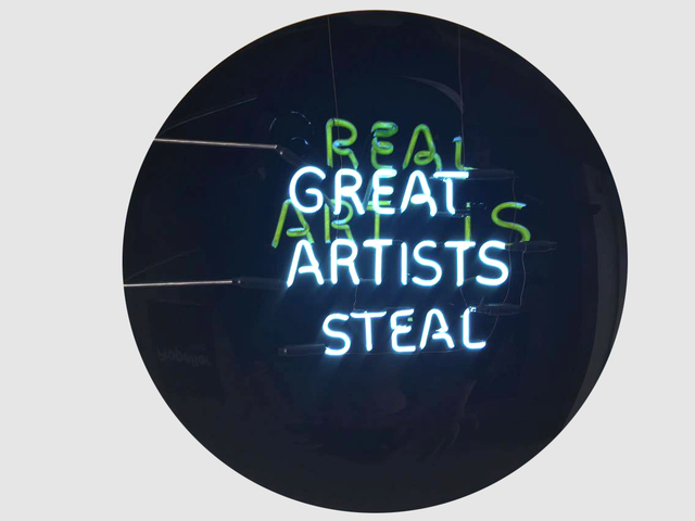 , 'Great artists steal / Real art is...,' 2016, Fabien Castanier Gallery